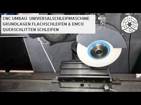 Arbeiten mit einer Universal Schleifmaschine und schleifen eines Emco Querschlittens