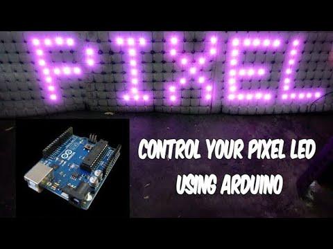 Adafruit Neopixel 8x8 led matrix with Arduino individually