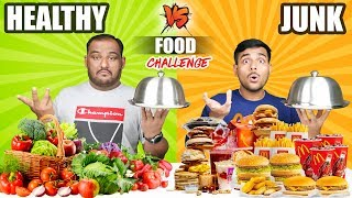 HEALTHY VS JUNK FOOD EATING CHALLENGE | Burger & Pizza Eating Competition | Food Challenge