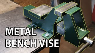 How To Make Metal Bench Vise   DIY TOOL