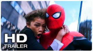 Spider Man Far From Home Spider Man Amp Mj Swinging Scene Trailer New 2019 Superhero Movie Hd