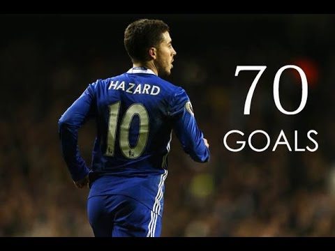 Eden Hazard - First 70 Goals For Chelsea FC - HD