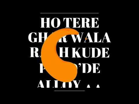 Tere Ghar wali Rah [Burnout] Karan aujla DJ Flow black screen whatsapp status