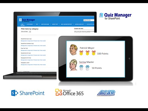 ACAR Quiz Manager for SharePoint - YouTube