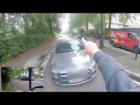 Another angry driver on the wrong side of the road near Regents Park gets a ticket by police