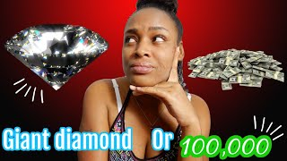 Episode #2 Would You Rather Pick A Giant Diamond Or $100,000 - Reaction