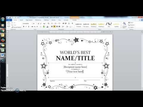 Mail Merge to Make certificates - YouTube