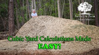 Cubic Yard Calculations Made EASY!