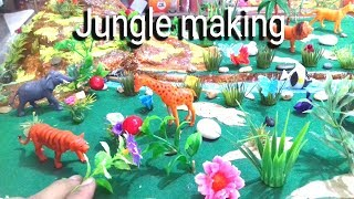 ✔How To Make Jungle | A Visit To A Zoo | Wildlife Model  | Types Of Forest Model