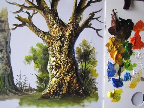 How to paint a tree trunk lesson 4