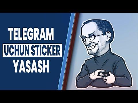 TELEGRAM UCHUN STIKER YASASH/PHOTOSHOP ORQALI