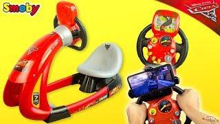 Vaikiškas interaktyvus lenktynių simuliatorius su telefono laikikliu | V8 | Smoby 370206
