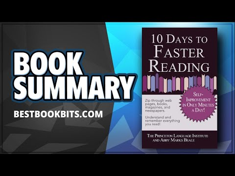 10 Days to Faster Reading | Abby Marks-Beale | Book Summary