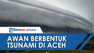 Viral Video Penampakan Awan Raksasa Mirip Tsunami di Aceh Barat dan Nagan Raya, Ini Penjelasan BMKG