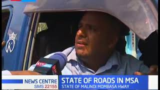 Mombasa road users lament over the poor state of roads