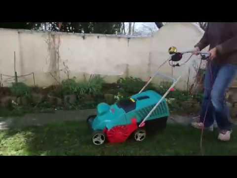 Bosch Rasenvertikutierer AVR 1100 Zusammenbau und erster Schnitt