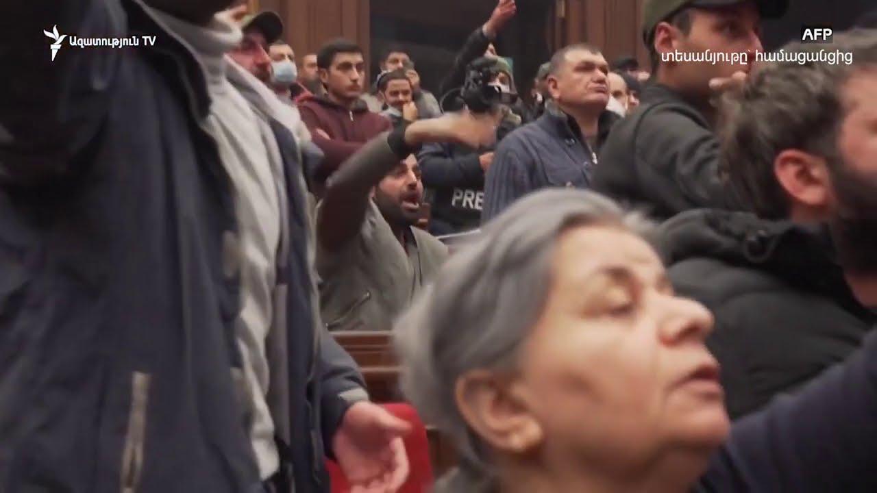 Ովքեր են ապահովել քաղաքացիների մուտքը կառավարական շենք. ԱԱԾ-ի տեսանյութը