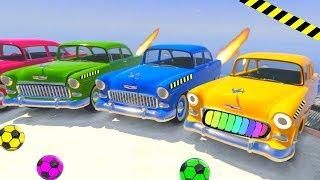 Мультфильмы для детей - Мультики про Цветные машинки. Ретро тачки наводят шум  в городе !!
