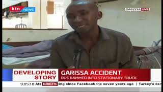 BREAKING NEWS: 12 die after bus rams into stationary truck along Mwingi-Garissa road
