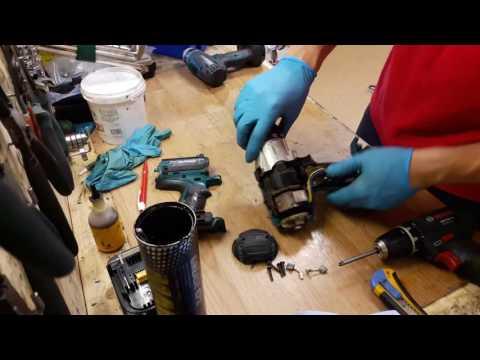 How to disassemble and repair Makita 18V li ion hammer drill BHP451 BDF451 BHP441 BDF441 gear assy