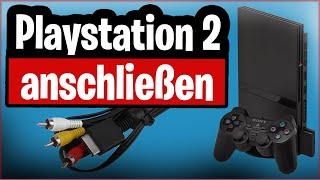 Playstation 2 an Fernseher anschließen (alle Möglichkeiten von AV bis HDMI)