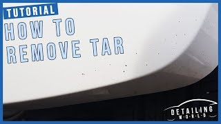 The Best Way To Safely Remove Tar From You Car