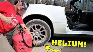 We Filled Our Tires With HELIUM!