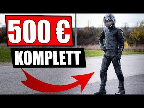 500€ KOMPLETTE  LEDERKOMBI MOTORRADAUSRÜSTUNG 125CCM/A2