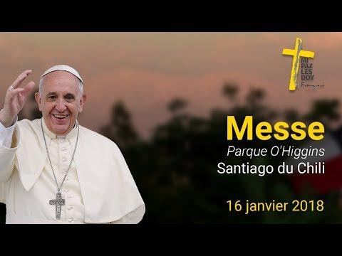 Messe au parque O'Higgins de Santiago du Chili
