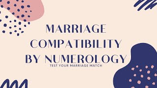 Marriage Compatibility by Numerology: 💗 Test Your Marriage Match✅ 1-9 Numbers Meaning   Slybu