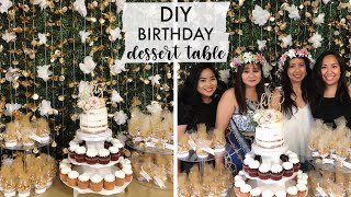 DIY Birthday Dessert Table | DIY Backdrop And Favors!
