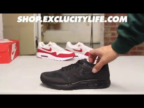 Air Max 1 Ultra Essential - Black - Black On-feet Video at Exclucity