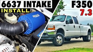 2001 Ford F350 7.3 Powerstroke - 6637 Intake Filter Install - Test drive, MPG testing