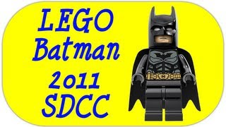 LEGO SDCC Batman 2011 Exclusive Minifigure LEGO DC Super Heroes Review