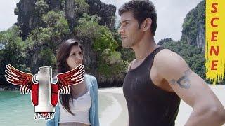 Mahesh Babu And Kriti Sanon Romantic Scene In Island - 1 Nenokkadine Movie Scenes