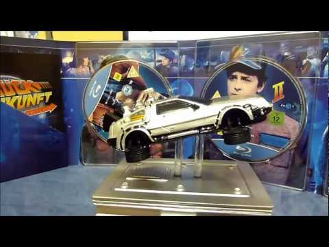 Zurück in die Zukunft - 25th Anniversary Trilogie Miniatur DeLorean Blu-ray unboxing