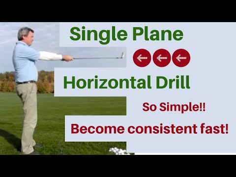 Single Plane Golf swing Video – Horizontal Drill – Free golf instruction, for kids too