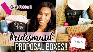 BRIDESMAID PROPOSAL BOXES ON A BUDGET // OUT OF STATE BRIDESMAIDS | LoveLexyNicole