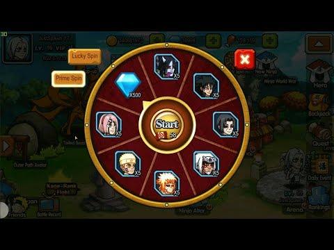 100+ Tickets Spin - Ninja World War New Update [Naruto]