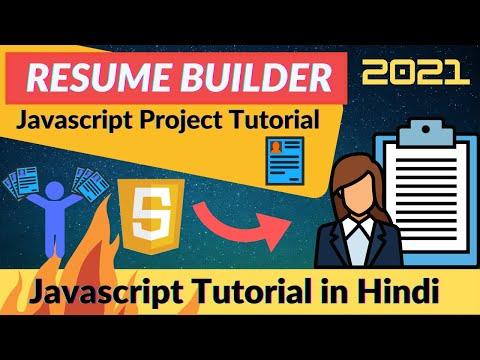 #31. Javascript Project 3 🔥 Resume Generator using Javascript 🔥  Part#1