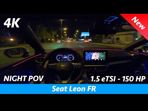 Seat Leon FR 2020 - FIRST Night POV test drive & FULL review in 4K, LED Headlights, 0 - 100 km/h