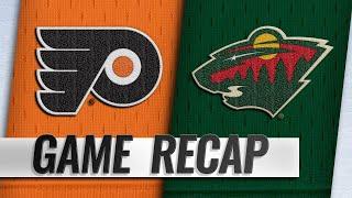 Van Riemsdyk scores twice as Flyers stave off Wild