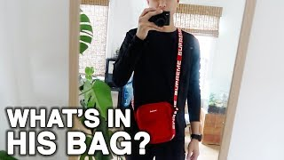 what's in my boyfriend's bag | WahlieTV EP574