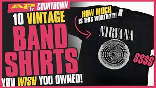 10 Vintage Band Shirts We Know You Wish You Owned–You Wont Believe How Much Theyre Worth!