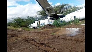 Plane skids off runway at Kenyan airport - VIDEO