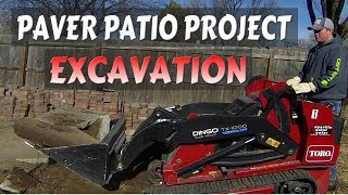 First Patio Paver Landscape Project, Toro Mini Skid Steer TX 1000, #TryNewThings