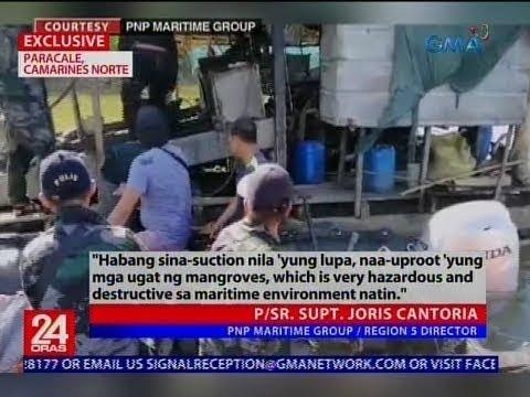 [GMA]  24 Oras: Anim arestado sa ilegal na pagmimina ng ginto sa mangrove area