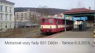 preview picture of video 'Motorové vozy řady 831 Děčín - Telnice 8.3.2015'