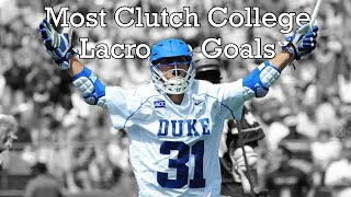 Most Clutch College Lacrosse Goals of All Time