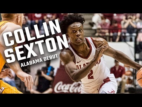 Watch footage from Collin Sexton's Alabama basketball debut